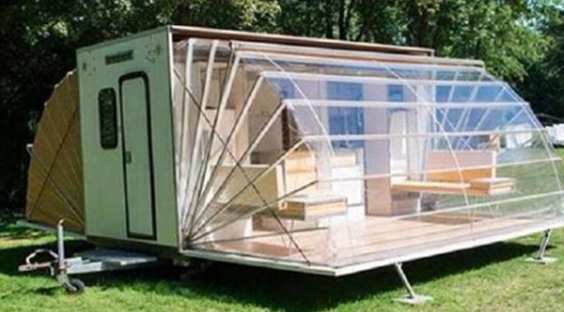 Дом на колесах, который раскладывается в поистине роскошное жилище